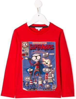 Little Marc Jacobs Super Marc print sweatshirt