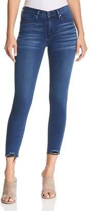 Hudson Nico Hem-Detail Skinny Jeans in Three Diamond