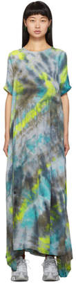Collina Strada Black and Yellow Tie-Dye Ritual Dress