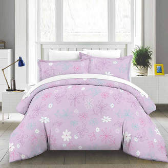 LULLABY BEDDING Lullaby Bedding Butterfly Floral Lightweight Comforter Set