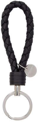 Bottega Veneta Black Intrecciato Keychain