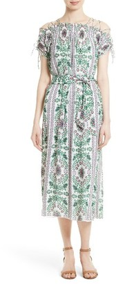 Women's Tory Burch Asilomar Floral Midi Dress $650 thestylecure.com