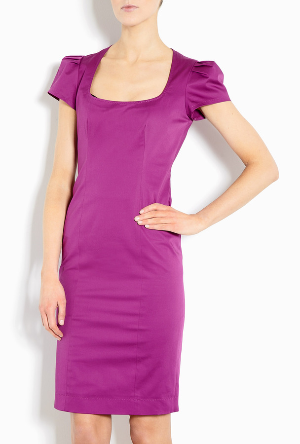 Moschino Cheap & Chic Cap Sleeve Stretch Cotton Dress