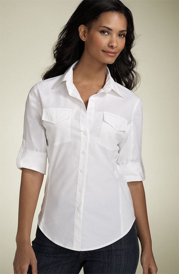 Not Your Daughter's Jeans RollUp Sleeve Blouse