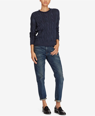 Polo Ralph Lauren Cable-Knit Cotton Sweater $98.50 thestylecure.com