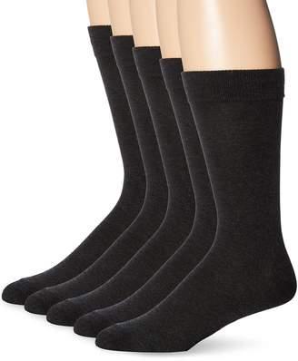 Dockers Classics Dress Flat Knit Crew Socks (5 and 10 Packs), Black, Shoe 6-12 Size: 10-13