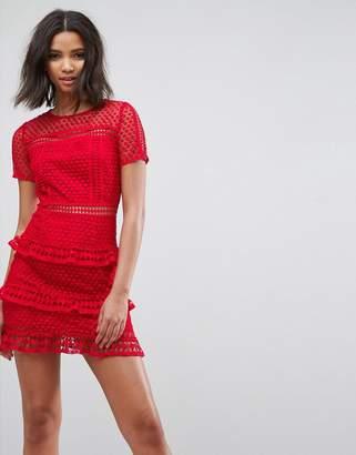 Liquorish Layered Lace Dress