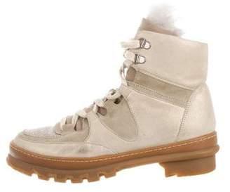 Brunello Cucinelli Fur-Trimmed Boots