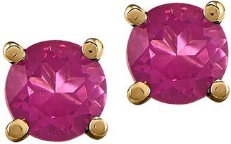 14K 0.70 cttw Pink Sapphire Stud Earrings