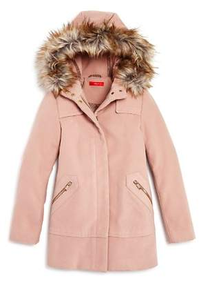 Aqua Girls' Coat with Faux-Fur Trim, Big Kid - 100% Exclusive