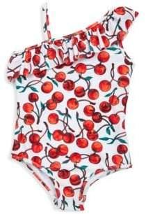 Milly Minis Toddler's, Little Girl's & Girl's Shoulder Ruffle Swimsuit