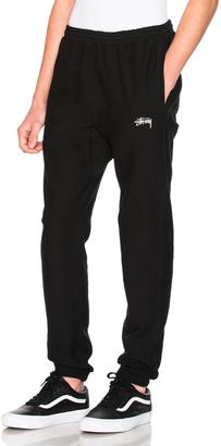 Stussy Stock Fleece Pant $80 thestylecure.com
