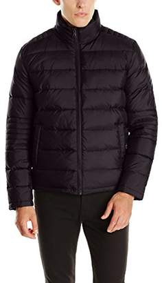 Kenneth Cole New York Men's Puffer Down Jacket with Elbow Stitch