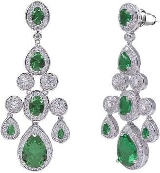Oasis shaze rhodium-plated green Earring