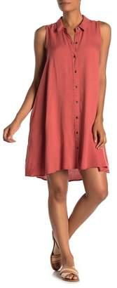 14TH PLACE Sleeveless Button Up Shirt Dress