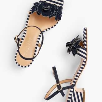 Talbots Meghan Flower Sandals - Corded Stripe