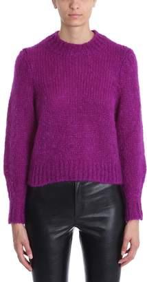 Isabel Marant Ivah Purple Mohair-blend Sweater