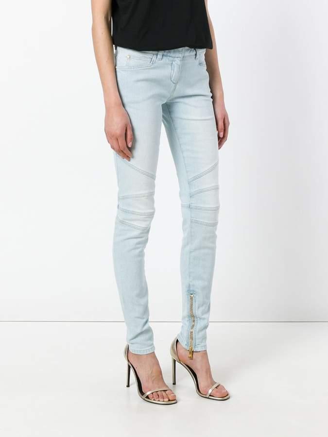 Balmain zipped cuff skinny jeans