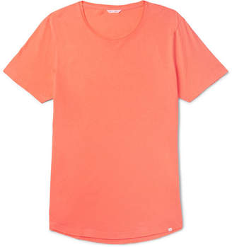 Orlebar Brown Ob-t Slim-fit Cotton-jersey T-shirt - Orange