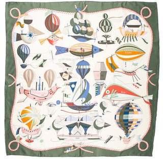 Hermes Les Folies du Ciel Silk Scarf