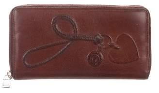 Saint Laurent Leather Zip-Around Wallet