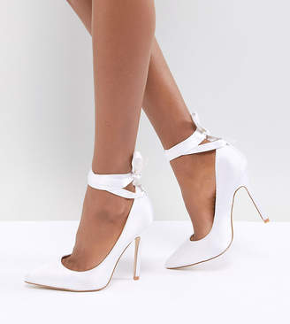 e48e90228097 Be Mine Bridal Witch-Hazel Ivory Ankle Tie Pumps