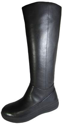 FitFlop Womens FF-Lux Full Zip Knee-High Leather Boot Shoe
