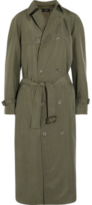 Joseph - Parachute Washed-silk Trench Coat - Army green $2,495 thestylecure.com