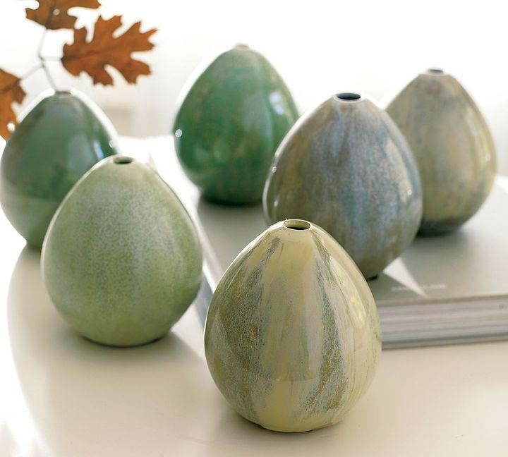 Egg Bud Vases, Set of 6