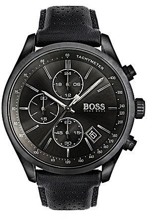 Hugo BossBOSS Hugo Boss Grand Prix Chronograph & Date Perforated Leather-Strap Watch
