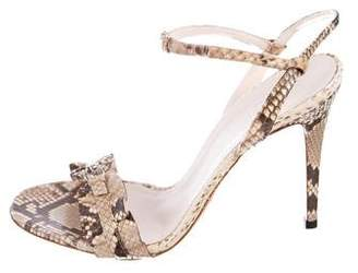 Gucci Snakeskin Ankle-Strap Sandals