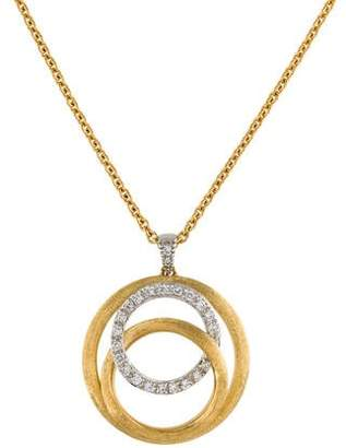Marco Bicego 18K Two Tone Diamond Pendent Necklace