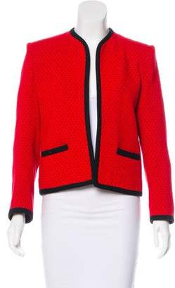 Milly Polka Dot Open Front Jacket