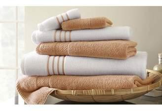 Three Posts Lapeer Superior Combed Cotton 6 Piece Striped Towel Set