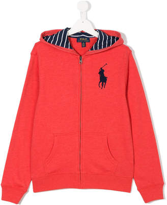 Ralph Lauren Teen logo embroidered hoodie