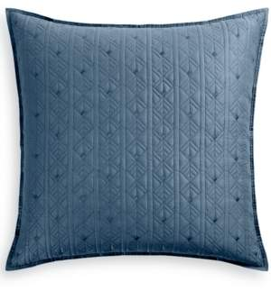 Hotel Collection Cascade 300-Thread Count Quilted European Sham, Created for Macy's Bedding