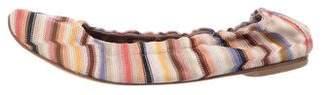 Missoni Knit Striped Flats