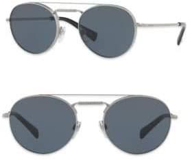 Valentino Glamtech 51MM Round Aviator Sunglasses