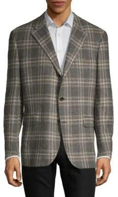 Caruso Plaid Wool Sportcoat