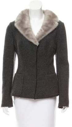 Dolce & Gabbana Mink-Trimmed Wool Jacket