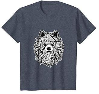 Pomeranian Face Graphic Art Shirt Gift for Dog Mom and Dad