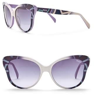 Emilio Pucci 57mm Plastic Sunglasses