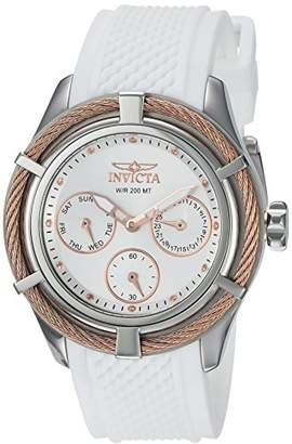 Invicta Women's 'Bolt' Quartz Stainless Steel and Silicone Casual Watch