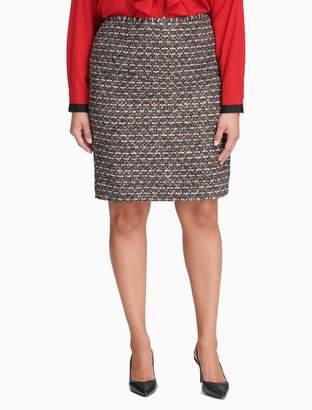 Calvin Klein plus size multicolor textured skirt