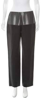 Narciso Rodriguez Silk High-Rise Straight-Leg Pants