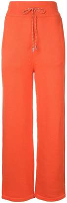 Christian Dada high-waisted knitted trousers