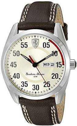 Ferrari Men's 0830175 D 50 Analog Display Quartz Brown Watch by