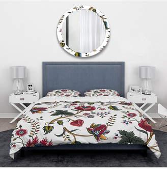 Design Art Designart 'Indian Floral Pattern' Tropical Duvet Cover Set - King Bedding