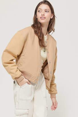 BDG Lena Snap Button Varsity Jacket