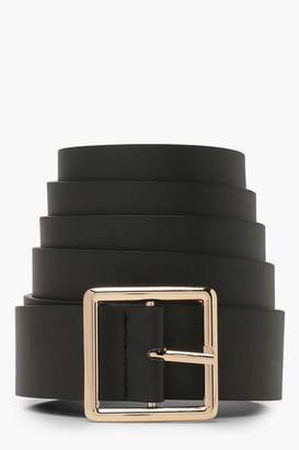 boohoo Plus Square Buckle Boyfriend Belt